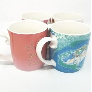 Bohemian Inspirational Coffee Mug 4pc Set